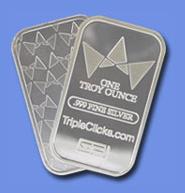 TripleClicks 1-Oz Silver Bar